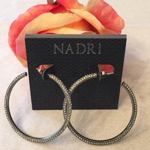 BNWT NADRI HOOP EARRINGS